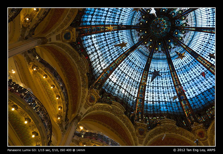 Looking Upwards Within Galeries Lafayette