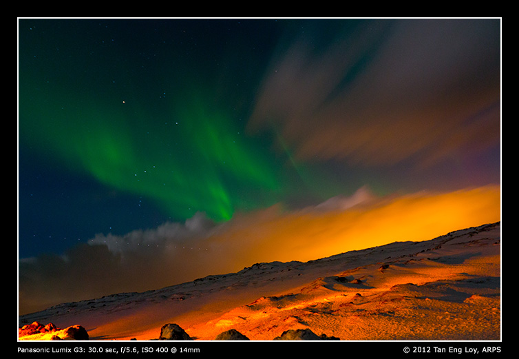 Icelandic Northern Lights Spectacle