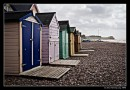 Deserted Beach Huts At Budleigh Salterton